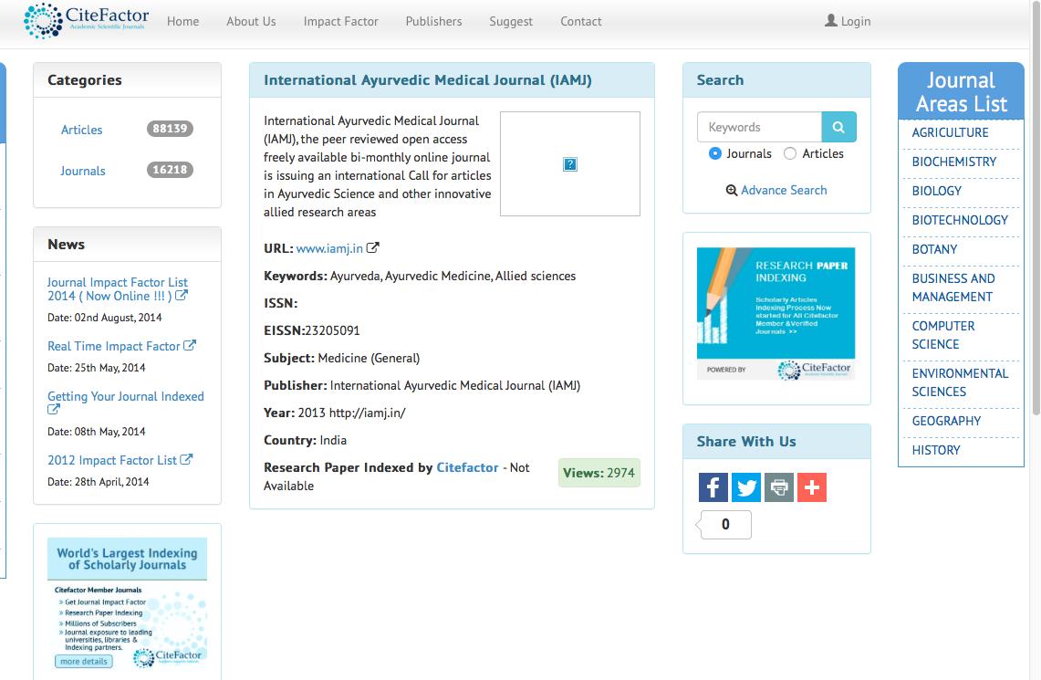 international ayurvedic medical journal welcome to iamj citefactor